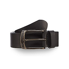 Wrangler - Big and tall black leather pin buckle belt