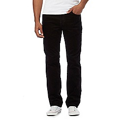 Wrangler - Black comfort stretch cord trousers