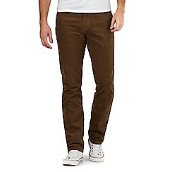 Wrangler - Tan 'rain ready' corduroy trousers
