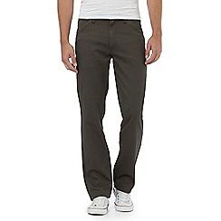 Wrangler - Dark grey 'Texas' stretch twill jeans