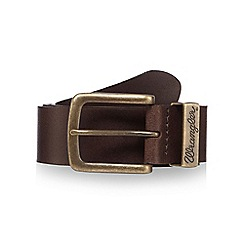 Wrangler - Big and tall dark brown leather belt
