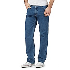 Lee - Big and tall Brooklyn dark stonewash regular fit blue jeans