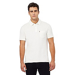 Levi's - Cream textured polo shirt