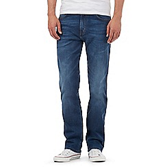 Wrangler - Big and tall arizona blue mid wash stretch straight jeans