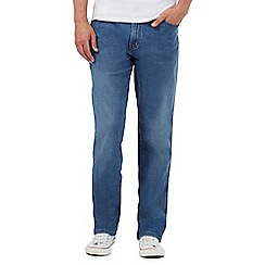 Wrangler - Big and tall texas blue mid wash jeans