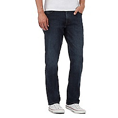 Wrangler - Big and tall texas dark blue rinse wash jeans