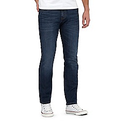 Wrangler - Blue mid wash regular fit jeans