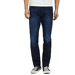 Wrangler - Big and tall dark blue 'Arizona fast and royal' regular fit jeans