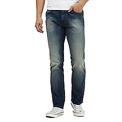 Wrangler - Blue 'Arizona Light My Fire' regular fit jeans