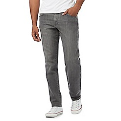 Wrangler - Big and tall 'Texas Graze' grey advanced comfort straight leg jeans