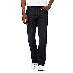 Wrangler - Big and tall texas dark blue stretch straight fit jeans