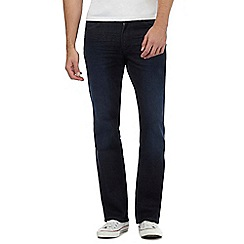 Wrangler - Navy 'Jacksville' mid wash bootcut fit jeans