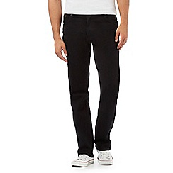 Wrangler - Big and tall 'Texas Reactive' black straight leg jeans