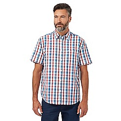 Wrangler - Big and tall red and blue checked print shirt