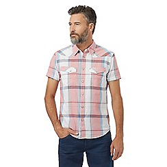 Wrangler - Pink checked print western shirt