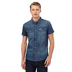 Wrangler - Blue western denim shirt