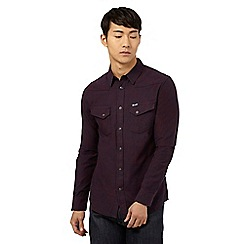 Wrangler - Red textured slim fit shirt