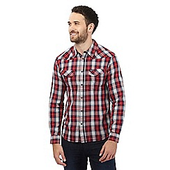 Wrangler - Red button down checked shirt