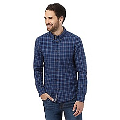 Wrangler - Blue checked regular fit shirt