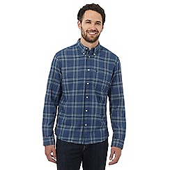 Wrangler - Blue checked Indigo shirt