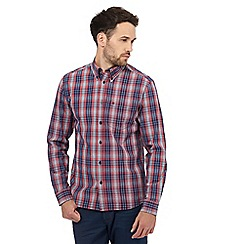 Wrangler - Red checked print button down shirt