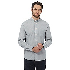 Wrangler - Big and tall white textured striped regular fit shirt