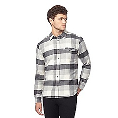 Wrangler - Grey button down check shirt