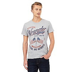Wrangler - Big and tall grey slogan printed t-shirt