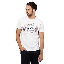 Wrangler - White logo 'American' print t-shirt