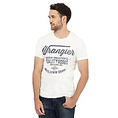 Wrangler - White printed t-shirt