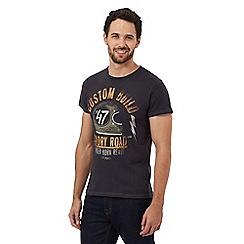 Wrangler - Dark grey 'glory road' print t-shirt