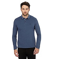 Wrangler - Blue long-sleeved polo shirt