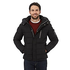Wrangler - Big and tall black waterproof padded jacket