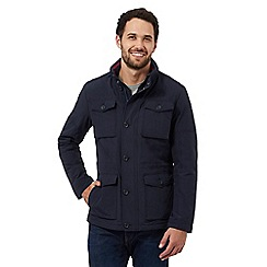 Wrangler - Big and Tall navy water resistant pocket jacket