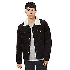 Wrangler - Black cord sherpa jacket