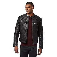 Wrangler - Black quilted biker jacket