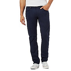 Lee - Navy twill regular fit jeans