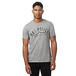 883 Police - Grey logo print t-shirt