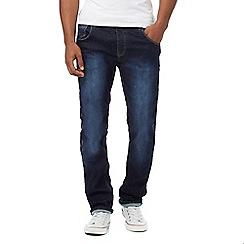 883 Police - Dark blue mid wash embossed pocket jeans
