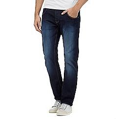 883 Police - Dark blue straight leg mid wash jeans