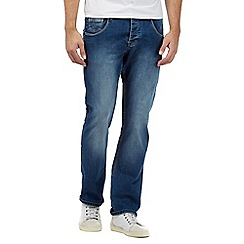 883 Police - Blue mid wash straight leg jeans