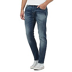883 Police - Blue mid wash sim fit jeans