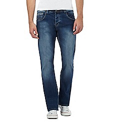 883 Police - Blue mid wash bootcut fit jeans