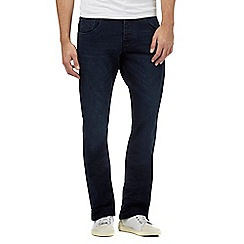 883 Police - Navy rinse wash bootcut jeans