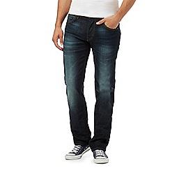 Lee - Navy vintage wash regular fit jeans