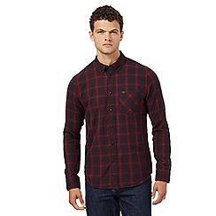 Lee - Maroon checked regular fit shirt
