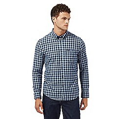 Lee - Navy checked regular fit shirt