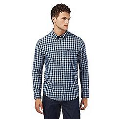 Lee - Navy checked regular fit shirt
