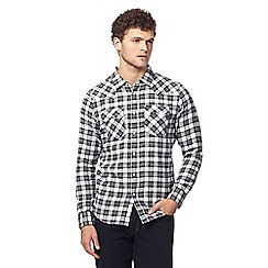Lee - Black button down checked print shirt