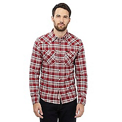 Lee - Red button down checked shirt